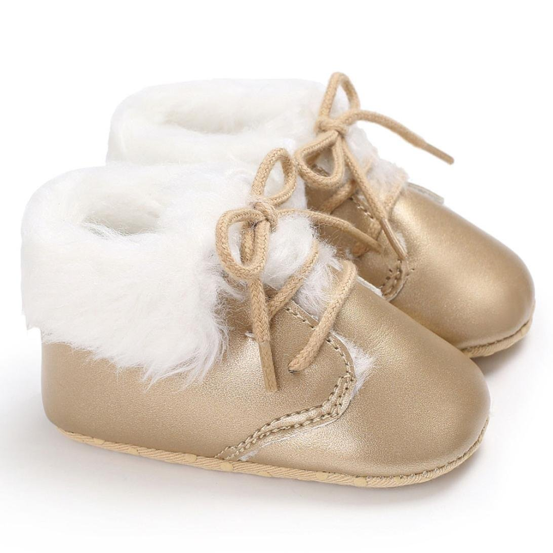 Witspace Infant Baby Boys Girls Soft Sole Sneakers Toddler Kids Winter Warming Crib Shoes