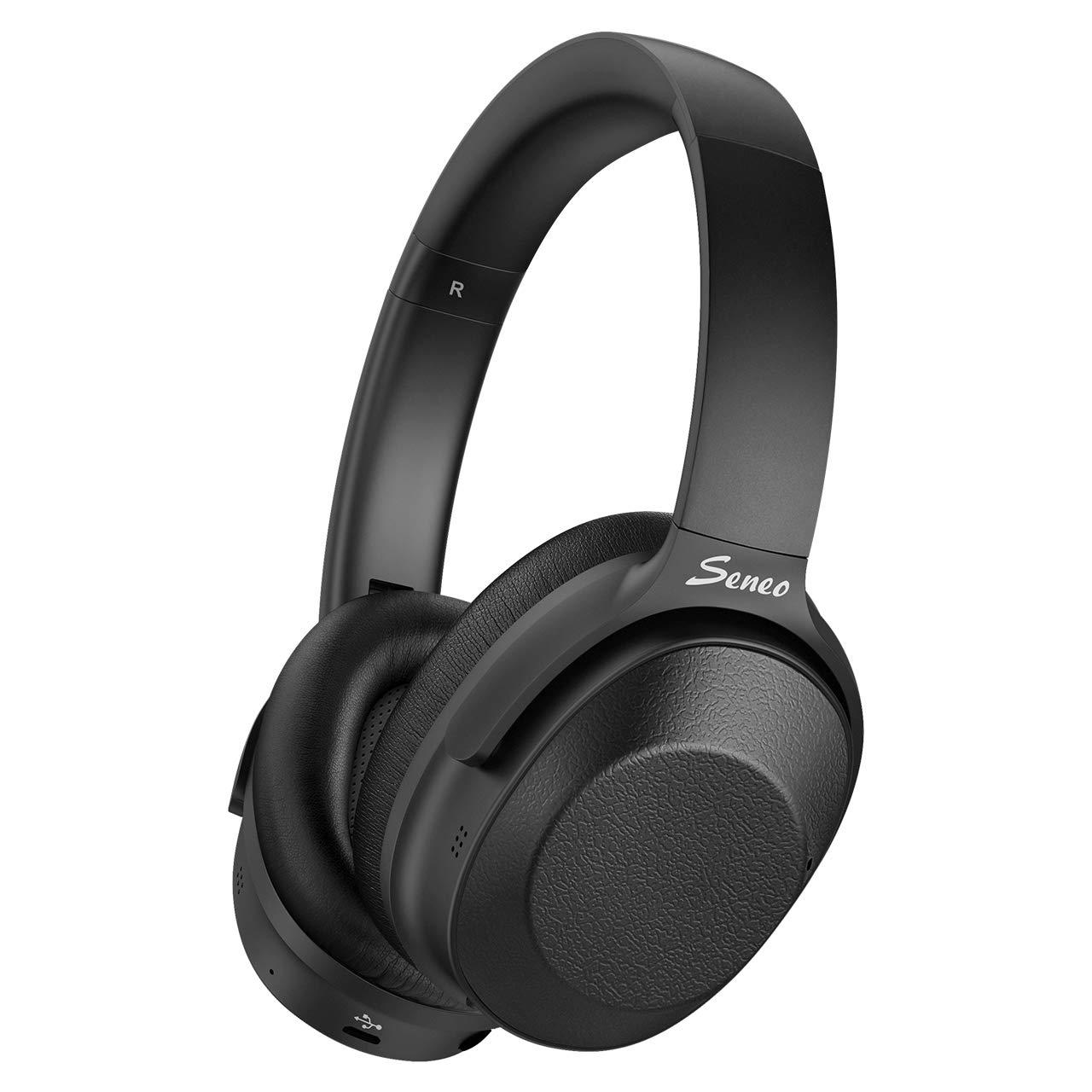 Auriculares Seneo Hybrid Cancelacion de Ruido Bluetooth Hi-Fi Sound Inalambrico 30-horas Duracion Soft Memory-Protein Ea