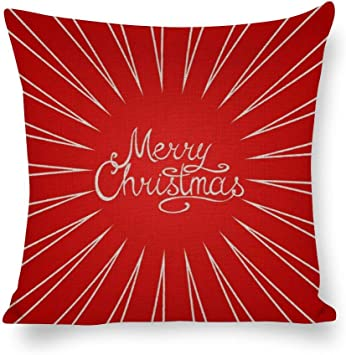 DKISEE Red Striped Background with Merry Christmas Greeting ...