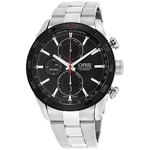 Oris Artix GT 77476614424MBXG - Reloj para hombre, esfera negra de acero inoxidable (reacondicionado