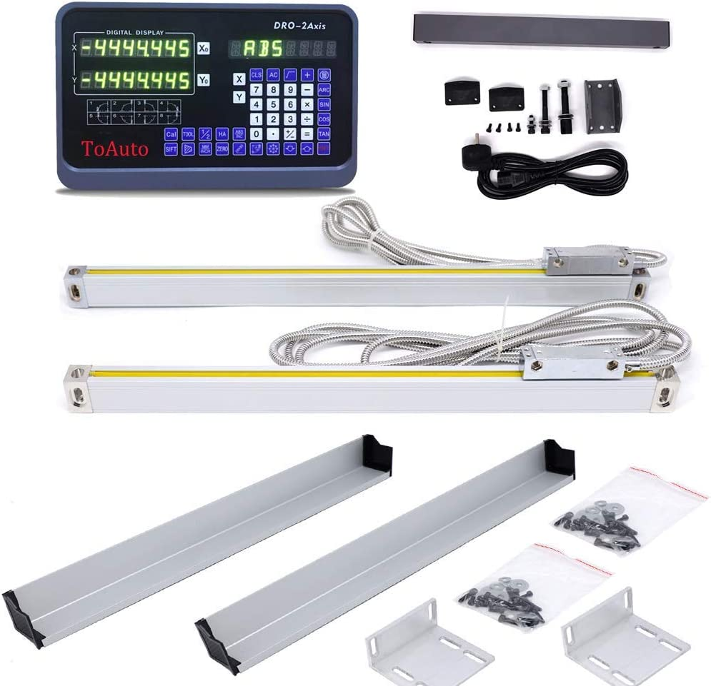 2 Axis Digital Readout Display Lathe Machine Drilling Grinding Linear Encoder