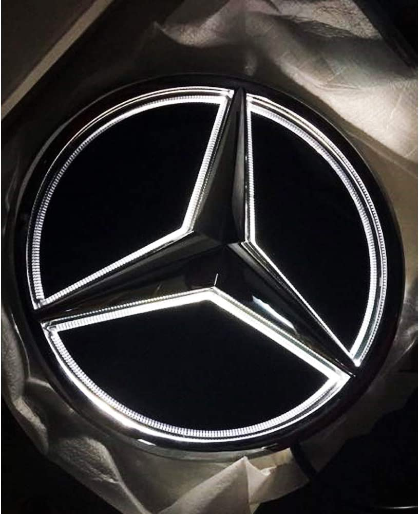 Mirror Car Front Grille Badge Drive Brighter Illuminated Logo Hood Star DRL for Mercedes Benz GLS GLE GLE X AMG LED Emblem for Mercedes Benz 2015-2017 White Light