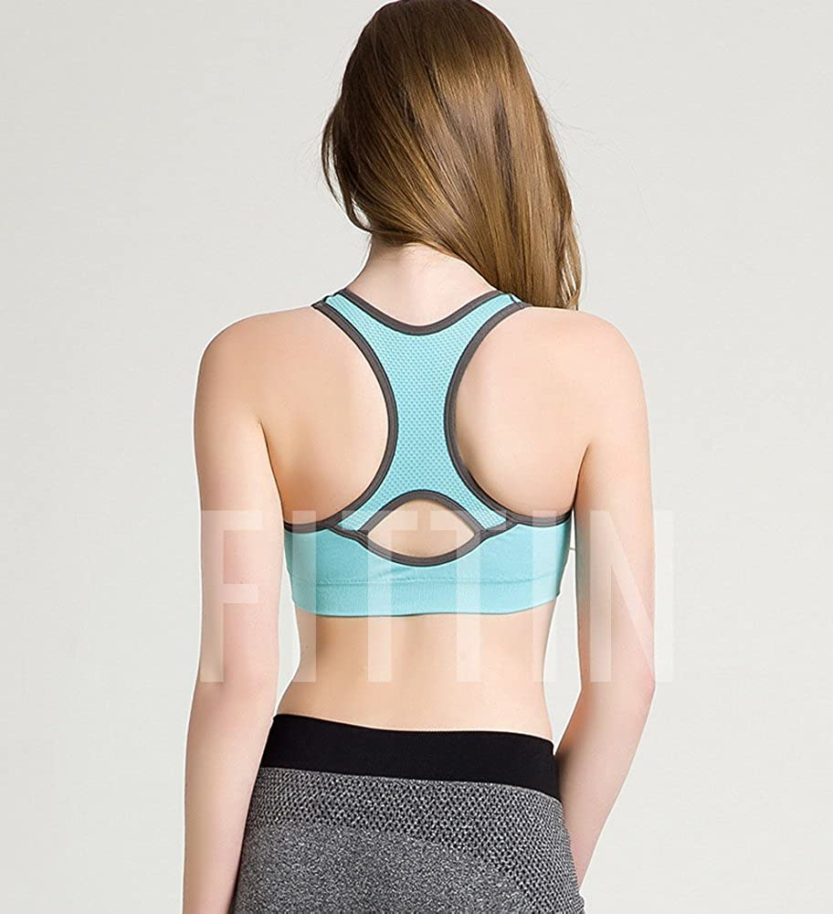 Padded Seamless High Impact Support for Yoga Gym Workout Fitness FITTIN Racerback Sports Bras
