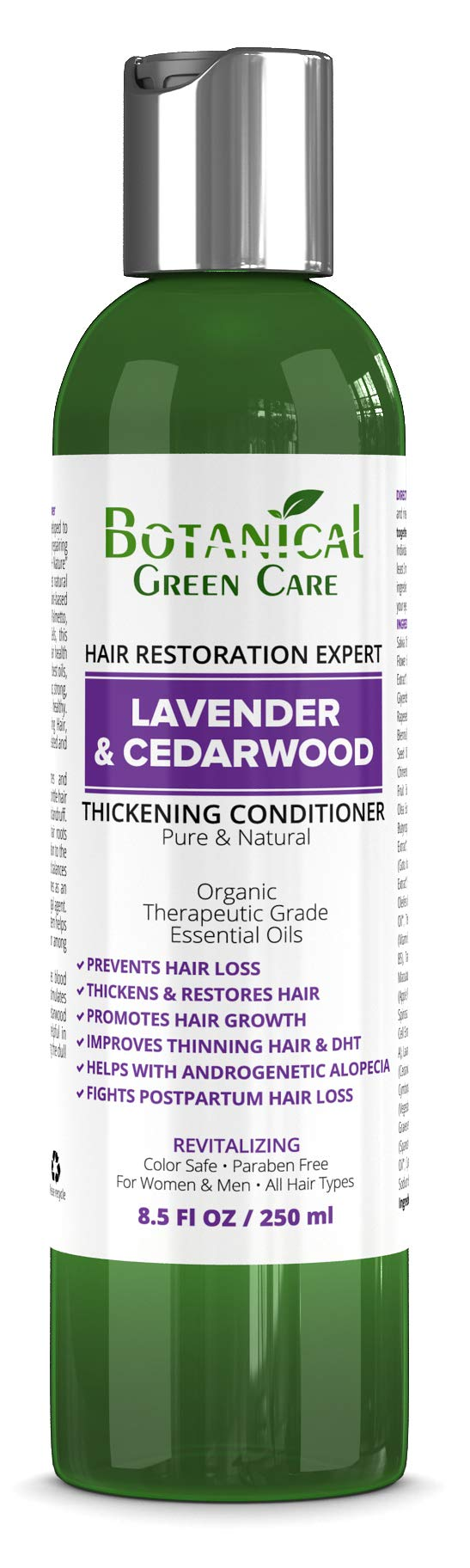 Hair Growth Anti-Hair Loss CONDITIONER ''Lavender & Cedarwood''. Alopecia Prevention and DHT Blocker. Doctor Developed. NEW 2018 FORMULA! by Botanical Green Care