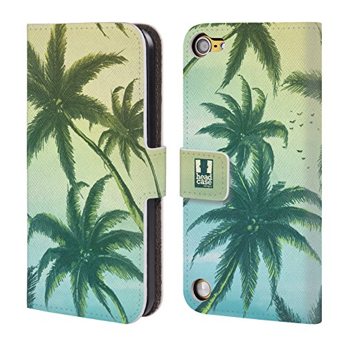 Head Case Beach Tropical Prints Cover telefono a portafoglio in pelle per Apple iPod Touch 5G 5th Gen / 6G 6th Gen