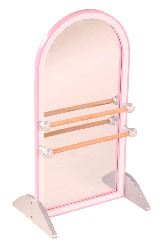 Götz 3402636 Ballettstange für Puppen mit Spiegel aus Holz - Gesamthöhe 52 cm - für Babypuppen und Stehpuppen von 25 - 50 cm