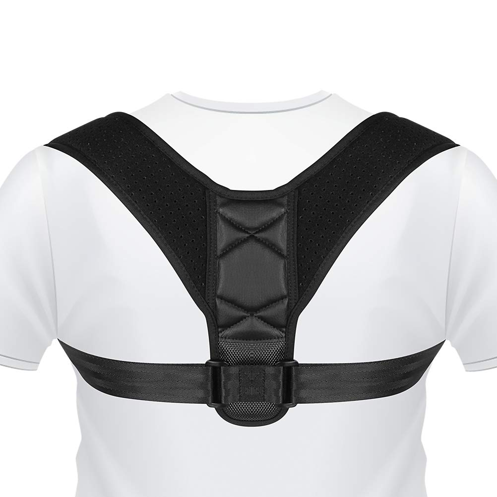 SKMOO Posture Corrector for Women & Men Effective and Comfortable Adjustable Upper Back Brace Clavicle Support Device Prevent Slouching and Provides Upper Back Shoulder and Neck Pain Relief