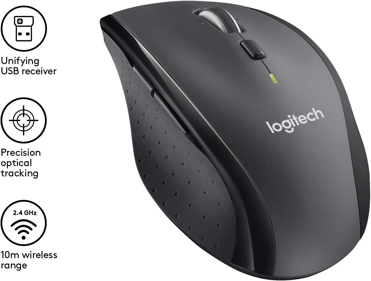 Logitech M705 Laser Maus Schnurlos Schwarz Grau Computer Zubehör