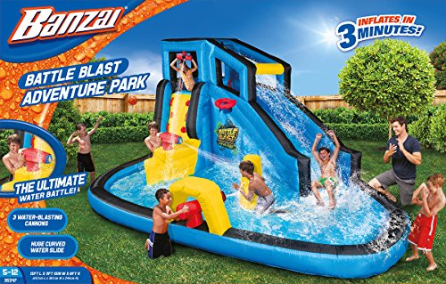 Banzai Battle Blast Adventure Inflatable Water Park