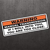 Warning Funny Vinyl Decal Bumper Sticker For JDM Manual Transmission Stick Shift Car Truck Hatchback