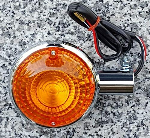 i5 Amber Lens Chrome Turn Signal for Yamaha Virago 250 535 750 1100, VMax, V-Max, Road Star, Royal Star, V-Star 250 650 1100.