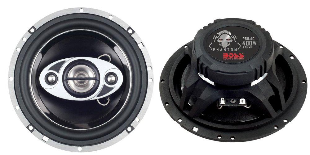 2)New Boss PC65.2C 6.5'' 500W 2-Way + 2) Boss P65.4C 6.5'' 400W 4-Way Car Speakers
