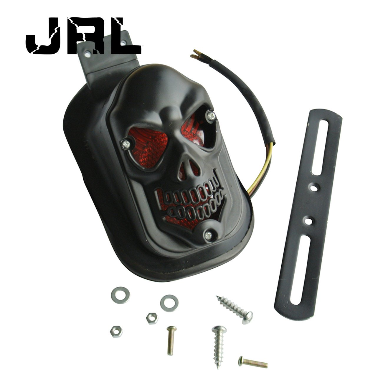 JRL Totenkopf schwarz Bremse hinten R/ücklicht f/ür Harley Motorrad Teile