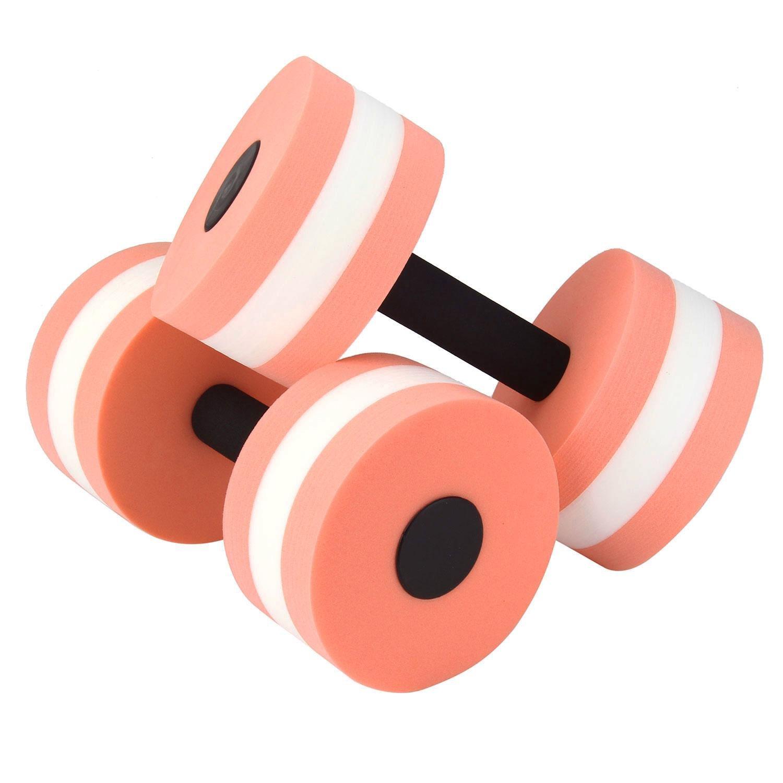 Juego de 2 mancuernas Pawaca Sports para ejercicios acuáticos, orange and white, 27.5Ã-15Ã-15CM: Amazon.es: Deportes y aire libre
