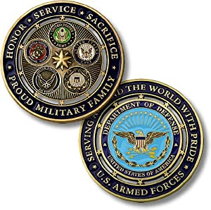 Northwest Territorial Mint Proud Military Family Challenge Coin… from Northwest Territorial Mint