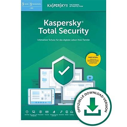 Kaspersky Total Security 2019 Standard   3 Geräte   1 Jahr   Windows/Mac/Android   Online-Code   Download