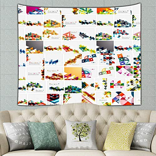 ong8 Huge mega Collection Abstract Geometric Paper Abstract Abstract Abstract Abstract Hippie Tapestry Wall Art for Living Room Bedroom Dorm Decor 50ʺ × 60ʺ