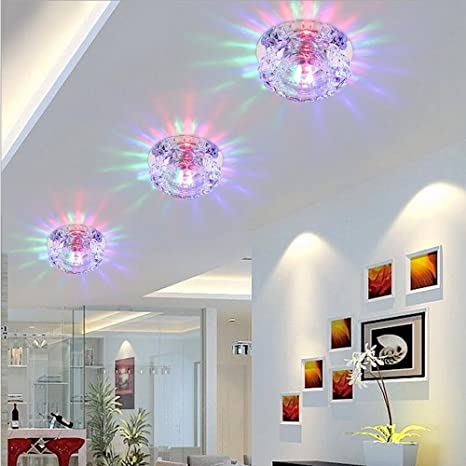 colorful chandelier lighting hineway crystal chandelier light mini modern round flush mount ceiling fixture 3w5w led
