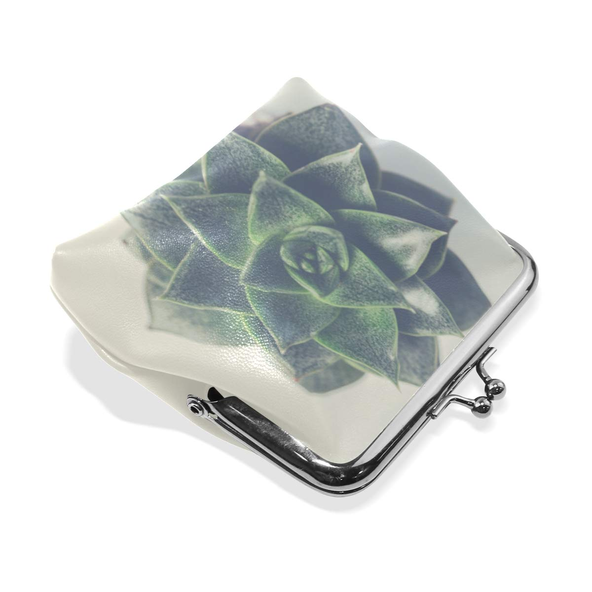 CLveg PU Leather Coin Purse Card Package Small Wallet shopping series Fleshy Flower