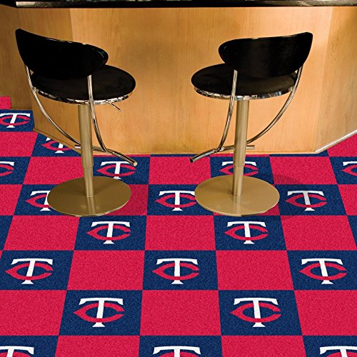 MLB Team 18'' x 18'' Carpet Tile MLB Team: Minnesota Twins by Fanmats