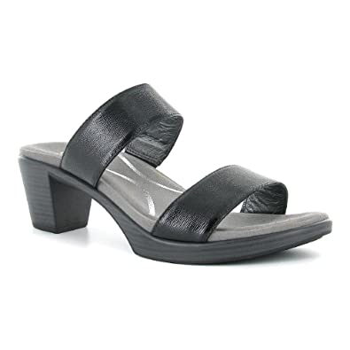 f2c84a49dce0 Naot Footwear Women s Fate Black Luster Leather Sandal 35 (US Women s ...