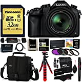 Panasonic Lumix DMC-FZ1000 4K QFHD/HD Leica Lens 16X Zoom Digital Camera + Panasonic 32GB Gold Series Class 3 SD Memory Card + Lowepro Case + HDMI to HDMI Micro Cable + Filter Kit + 12 Tripod Bundle