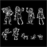 Express Design Group Zombie Family Car Stickers - Set of 2
