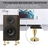 Asixx Speaker Feet, 8 Pairs 6 x 36MM Copper Speaker