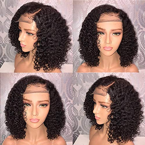 FORUU Wigs, 2019 Valentine's Day Surprise Best Gift For Girlfriend Lover Wife Party Under 5 Free delivery Brazilian Less Lace Front Full Wig Bob Wave Black Natural Looking Women Wigs]()