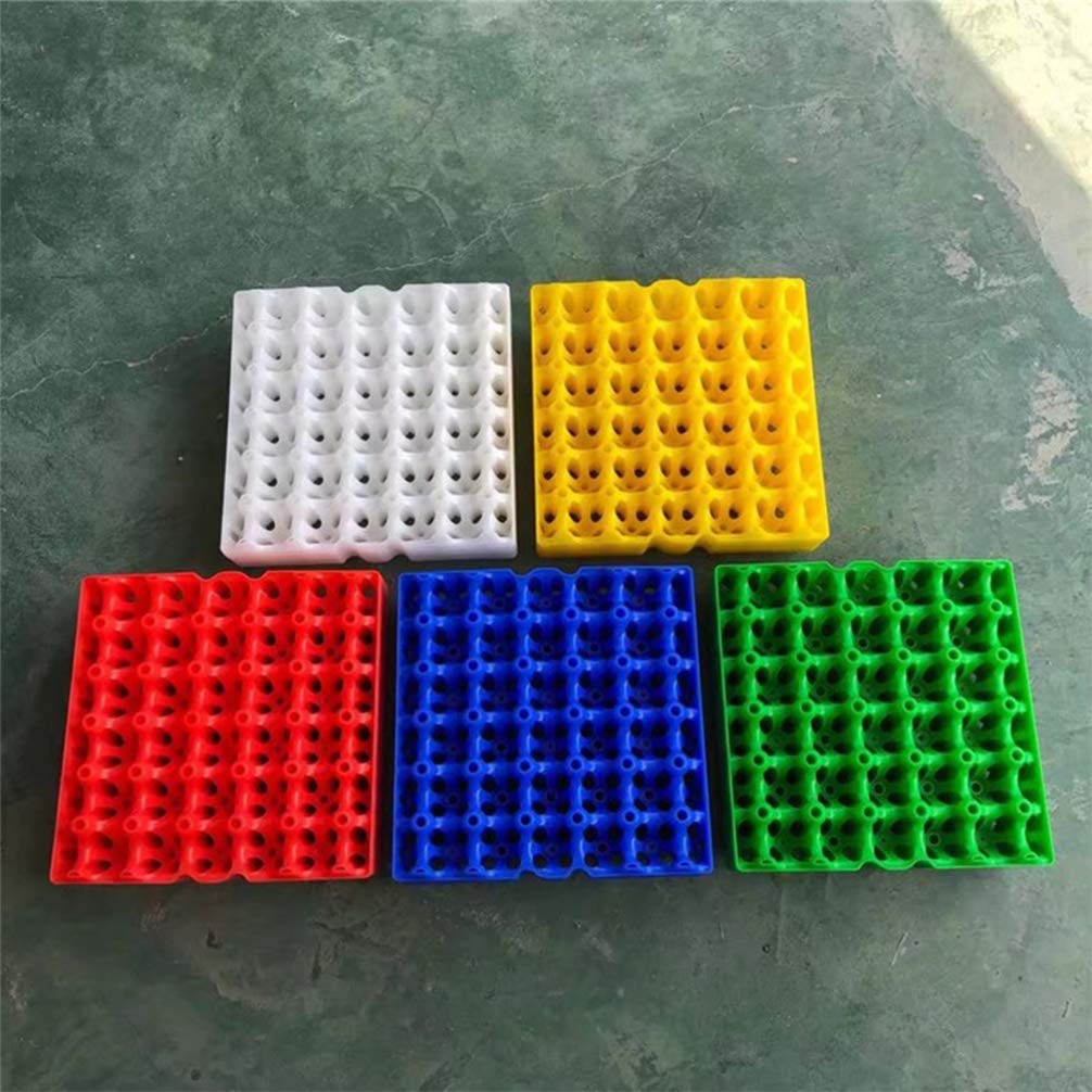 UPKOCH 5 Pezzi Portauovo Portaoggetti Scatola Antiurto 30 Griglie Separatore Di Uova In Plastica Per Frigorifero Da Cucina Colore Casuale