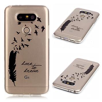 XiaoXiMi Funda de Silicona para LG G5 Carcasa Transparente Soft Silicone Cover Clear Case Funda Protectora Carcasa Blanda Caso Suave Flexible Caja ...