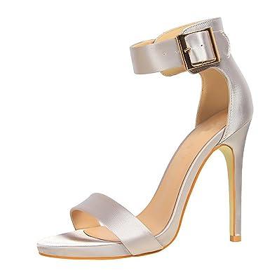 b70a6584bcc2de Sandales Talons Hauts Chaussures, Chaussure Femme Ete pour Confortables  Chaussures Ouverte Femmes, Élégant Chaussures de Soirée Mariage Sandales:  Amazon.fr: ...