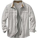 Legendary Whitetails Men's Silent Hide Sweater Fleece Button Down Athletic Heather Large