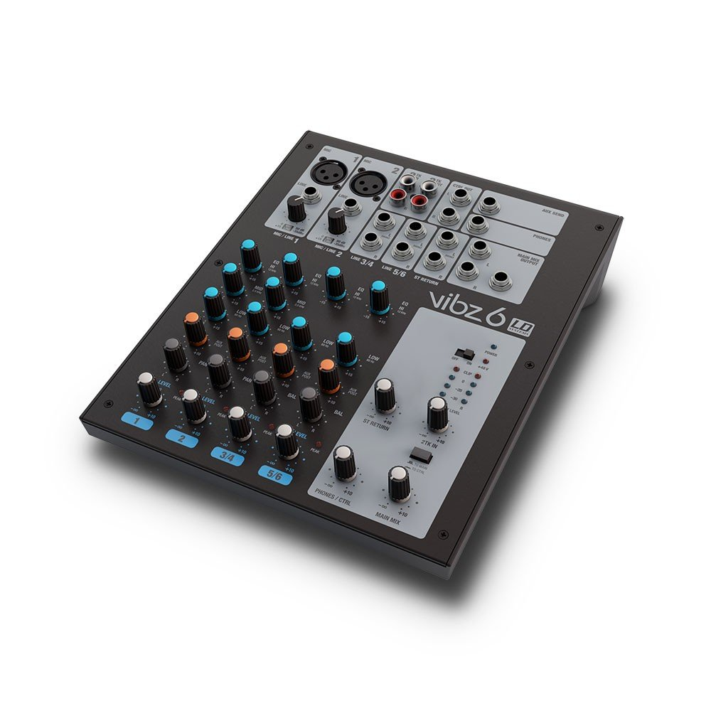 LD Systems VIBZ 6 D Channel Mixer - Powered Musical Distributors Group