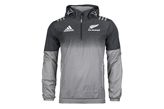 a91da45249c New Zealand All Blacks 2017 18 All Weather Rugby Jacket - Solid Grey White  - Size S  Amazon.co.uk  Clothing