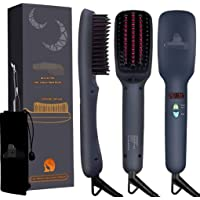Beard Straightener Comb Electrical Heated Irons Hair Straightening Brush for Man and Women with Faster Heating, PTC Ceramic Technology Auto Temperature Lock Anti Scald