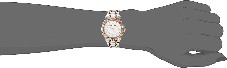 Anne Klein Women's Swarovski Crystal Accented Bracelet Watch Rose Gold/Silver