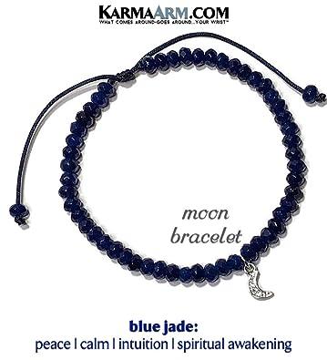 9c35c984f2350 Amazon.com  KarmaArm Moon Charm Bracelet