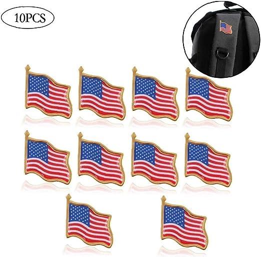 Culer Suministros De Decoración 10PCS La Solapa del Indicador De América Día De La Independencia De Estados Unidos Pin EE.UU. Sombrero De Fiesta Tack Badge Tie: Amazon.es: Hogar