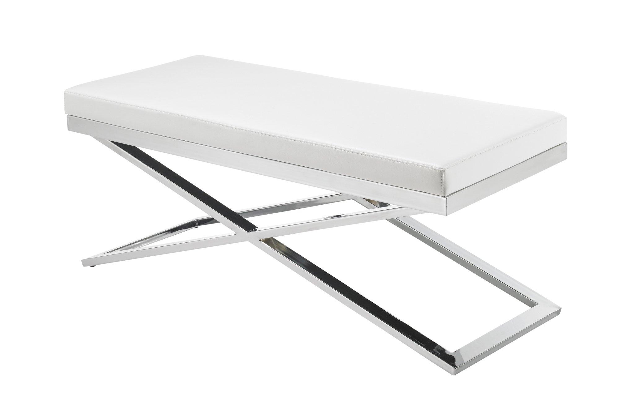 Sunpan Ikon Benches, White by Sunpan