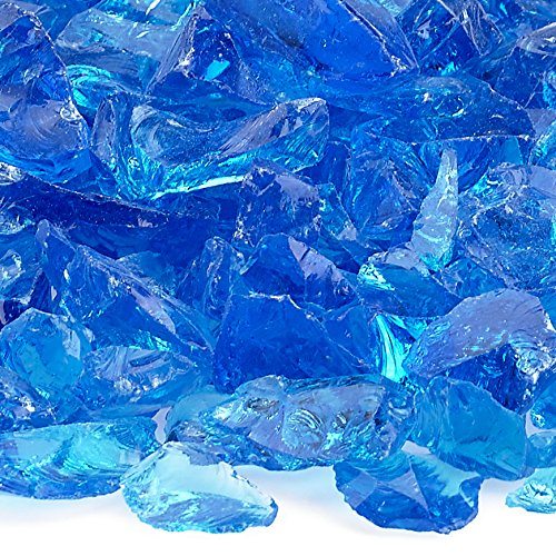American Fireglass 9 to 12mm Fire Pit and Outdoor Fireplace Glass, Small, 10-Pound, Turquoise
