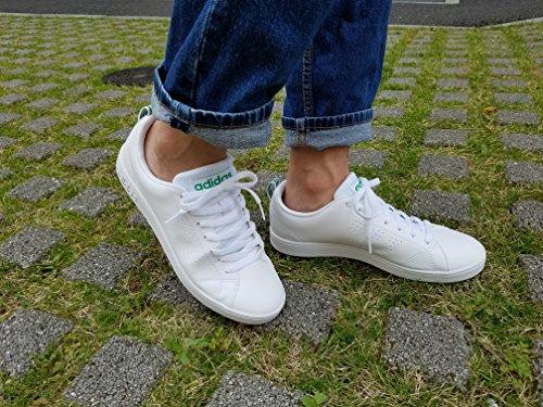 Blanco de Zapatillas Deporte Clean Adidas para Ftwbla Vs Ftwbla Verde Hombre Advantage wI1qxna8