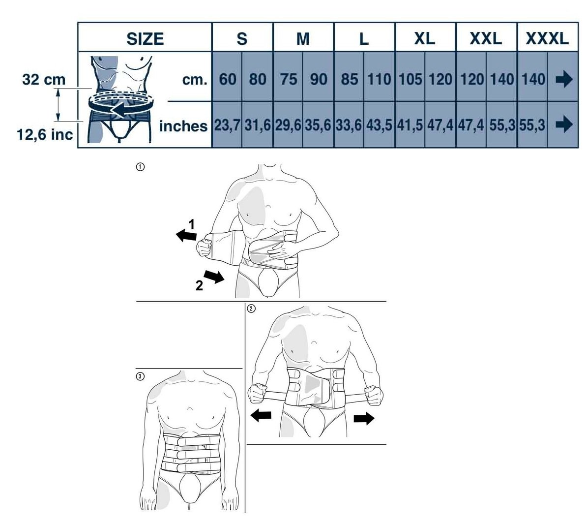 M-Brace AIR M-Spine Lumbar-Sacral Brace, Grey, 4X-Large