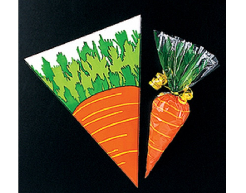 12 carrot easter treat sweet or party bags spring egg hunt 12 carrot easter treat sweet or party bags spring egg hunt parties amazon kitchen home negle Gallery