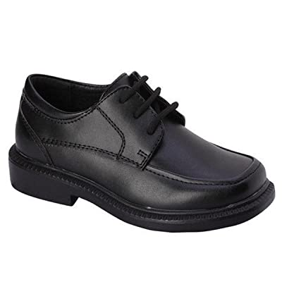 Bonafini Boys K-107 Black Lace Up Formal Dress Oxford Shoes