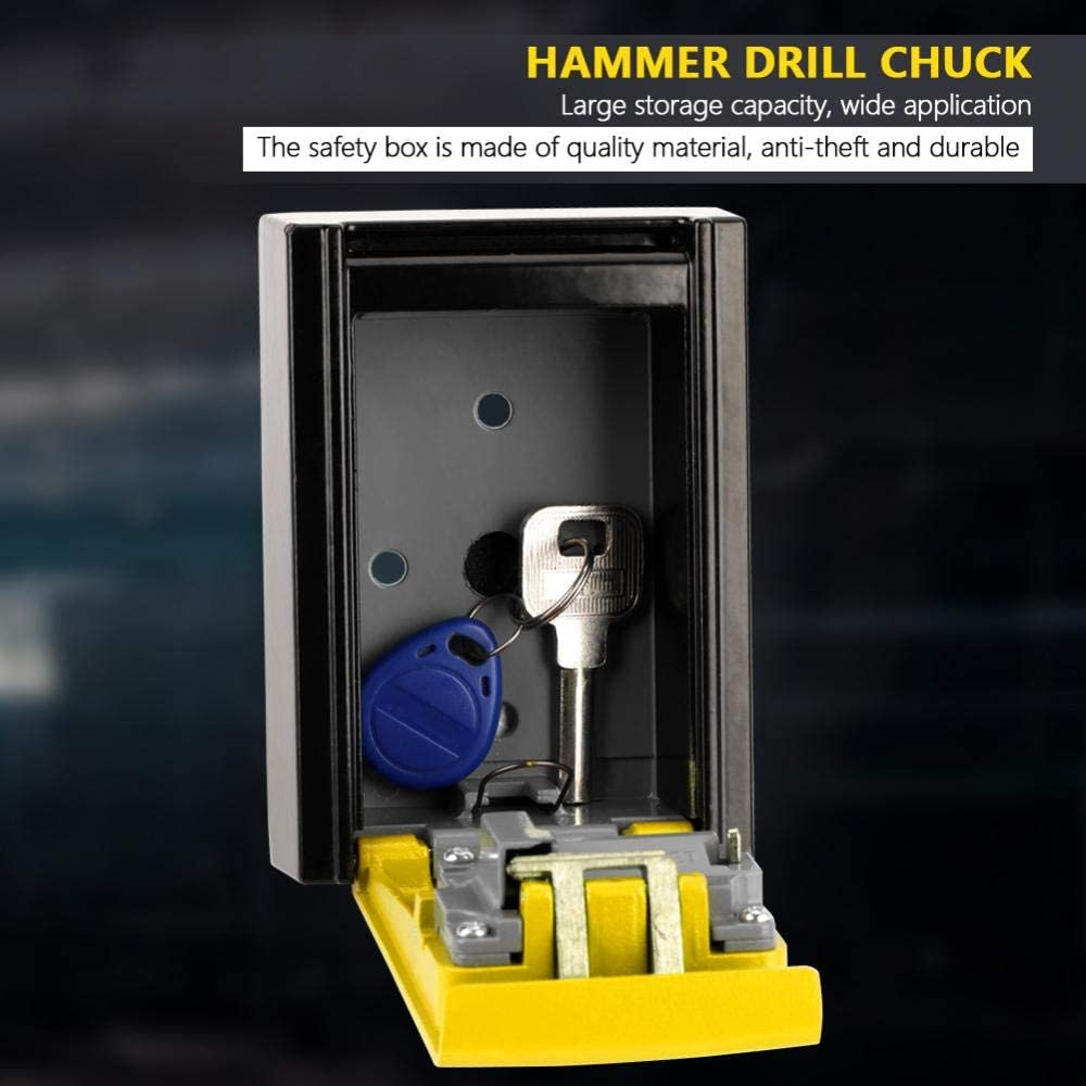 Victool Sicherheitsschl/üssel-Schlie/ßfach Gelb 4-stelliges Kombinationskennwort Schl/üssel-Aufbewahrungsbox Wand-Sicherheitsschloss