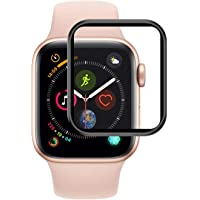 Microsonic 17888 Apple Watch Series 4 44mm Tam Kaplayan Temperli Cam Full Ekran koruyucu Siyah