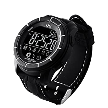 rungao UU reloj inteligente deporte impermeable Bluetooth inteligente reloj teléfono Mate para Android IOS, negro: Amazon.es: Deportes y aire libre