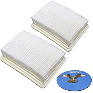 HQRP 2-pack Washable & Reusable Filters for Hoover FH40010 / FH40010B / FH40030 / FH40011B SpinScrub FloorMate Hard Floor Cleaner Upright, 59177051/40112050 Coaster