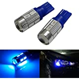 T10 LED Parking Bulb Or Pilot Light Blue High Power Projector LED Set of 2 for for All Bikes (by Lowrence)